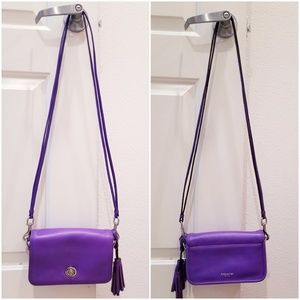 Coach, Purple leather cross body bag